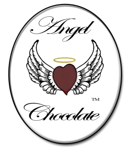 Dark Chocolate Heart Angel Wings