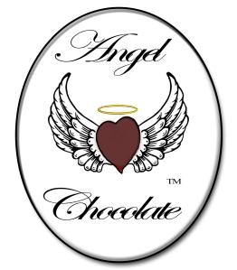 Dark Chocolate Heart Angel Wings